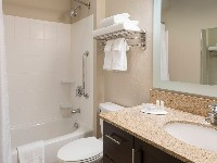 TownePlace Suites Vista/Carlsbad Studio King Suite Bathroom