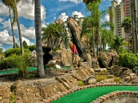 Mini Golf at Resort Entrance